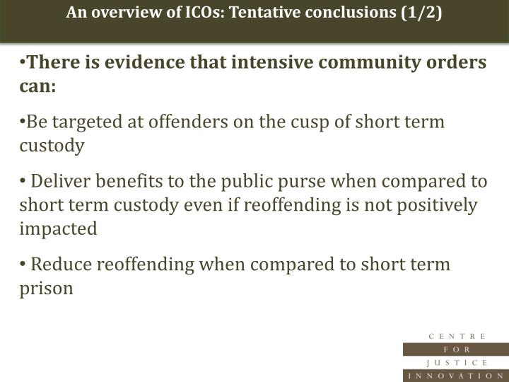 An overview of ICOs: Tentative conclusions (1/2)
