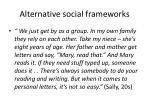 alternative social frameworks