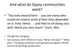 and what do gypsy communities want