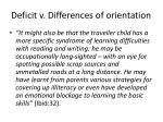 deficit v differences of orientation
