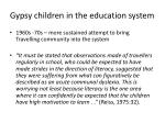 gypsy children in the education system