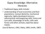 gypsy knowledge alternative literacies