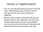 literacy as negative equity