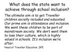 what does the state want to achieve through school inclusion