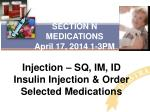 section n medications april 17 2014 1 3pm