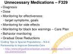 unnecessary medications f329