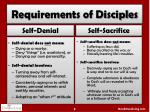 requirements of disciples