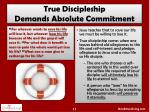 true discipleship demands absolute commitment