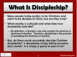 what i s discipleship