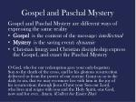 gospel and paschal mystery