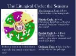 the liturgical cycle the seasons