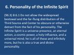 6 personality of the infinite spirit