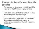 changes in sleep patterns over the lifetime