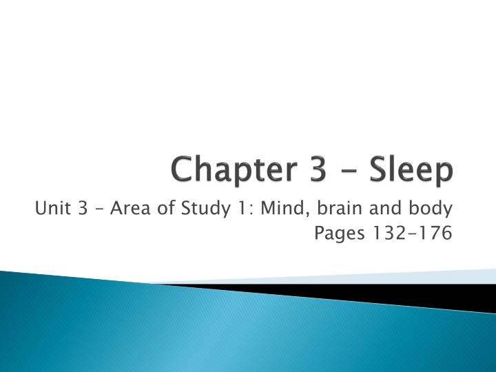chapter 3 sleep n.