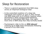 sleep for restoration2