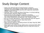 study design content