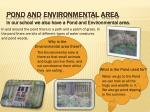 pond and environmental area