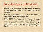 from the history of british edu