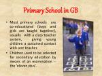 primary school in gb