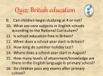 quiz british education1