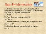 quiz british education10