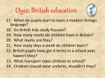 quiz british education2