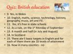 quiz british education7