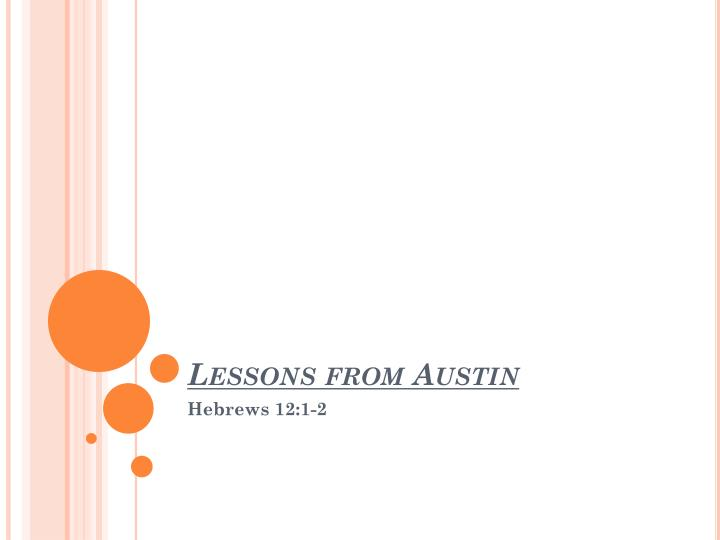 lessons from austin n.