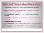 skin and temperature regulation