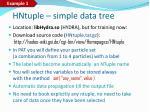 hntuple simple data tree
