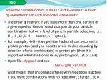 how the combinatorics is done is it k element subset of n element set with the order irrelevant