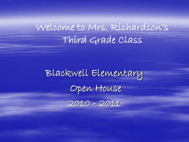 blackwell elementary open house 2010 2011 n.
