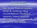 social studies famous americans