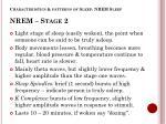 characteristics patterns of sleep nrem sleep nrem stage 2