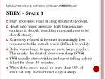 characteristics patterns of sleep nrem sleep nrem stage 3