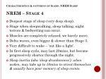 characteristics patterns of sleep nrem sleep nrem stage 4