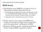 characteristics patterns of sleep rem sleep1