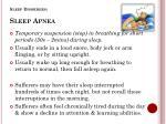 sleep disorders sleep apnea