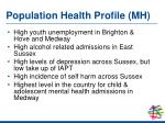 population health profile mh