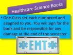 healthcare science books