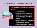 student attendance con t