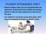 student attendance con t1