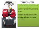 test quizzes
