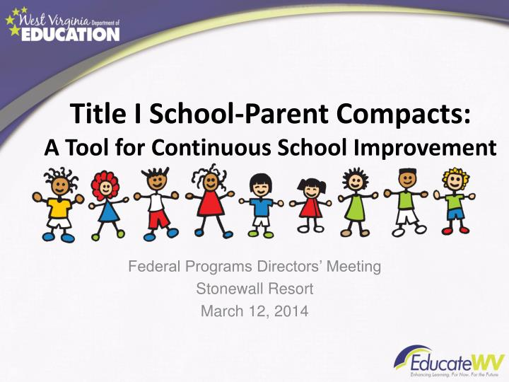 title i school parent compacts a tool for continuous school improvement n.
