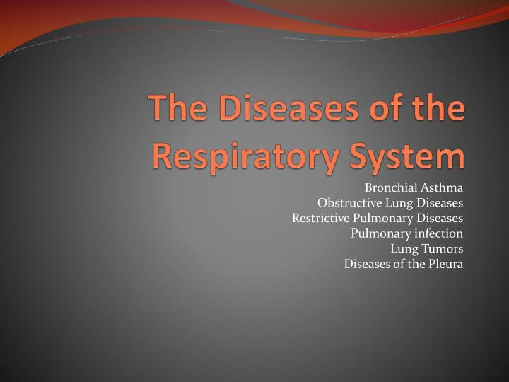 the diseases of the respiratory system n.