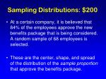 sampling distributions 200