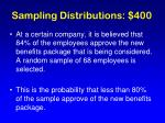sampling distributions 400
