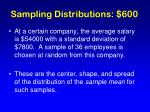 sampling distributions 600