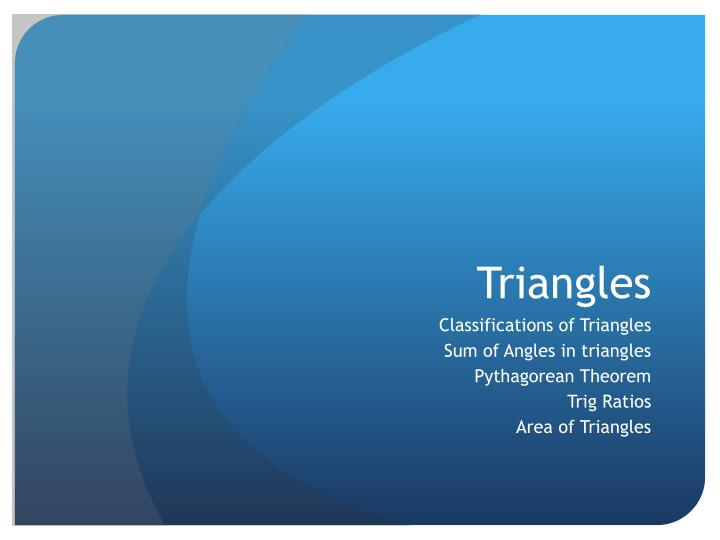 triangles n.