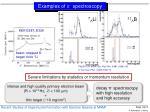 examples of p spectroscopy